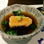目利きのたか志 - お通しは、霰揚げ出しの胡麻豆腐 魅力的
