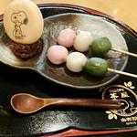 SNOOPY茶屋 由布院 - スヌーピー三色団子 486円