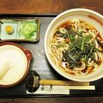 香月 - 山菜とろろ うどん 冷 820円(税込)・夏限定メニュー。      2018.08.19