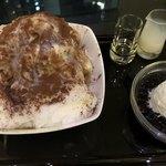 カフェ ド シエル - コーヒーのかき氷(正式名ではないです)