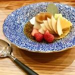 キッチン 菜 - こだわり卵のプリンアラモード