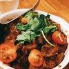 ロダン - 料理写真:茄子・玉ねぎ・トマトのカレー チキンとパクチー入り