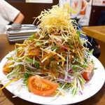 炭火焼 ぐら - ぐらのマウンテンサラダ(¥626)。これはすごい迫力! そしてお値段…¥580で間違っていないんです