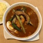 アーガマン - 料理写真:チキンスープカレー980円、激辛10番いただきました。