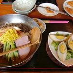 9119752 - らんち キムチ冷麺+肉巻き卵セット