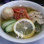 91190268 - 【(限定) スマッシュ冷麺 並 + 煮玉子】¥750 + ¥100