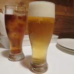 91190887 - 生ビールと烏龍茶