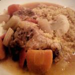 912027 - 宮城産鶏と野菜のビネガー煮込みとクスクス(1300円)