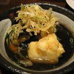 和ビストロ [i:z] 梅酒 × modern living - ナスと豆腐の揚げ出し/税込515円