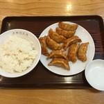 91206656 - サンキューセット・揚げ餃子 (10ヶ)、ライス
