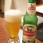 ガネーシュ - ビールセット(926円・外税)のキングフィッシャー