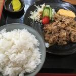 91207438 - 生姜焼き定食