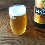 田村家 - 瓶ビール。生ビールは無いようですよ。