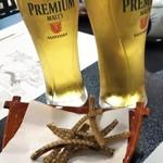 91210831 - 生ビール&ウナギの骨