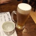 スタンドふじ - 生と焼酎で乾杯