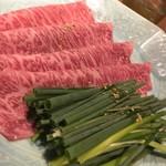 91216717 - 松阪牛サーロインの焼きすき