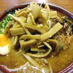 麺屋 一本気 - みそらー麺・めんま(大盛)(2011年8月)