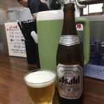 らーめん なんぞ屋 - 瓶ビール〜(´∀.`)/¥500円.。.:・*
