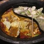 しゃぶしゃぶ 温野菜 - 麻辣肉鍋&和牛だし