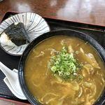 もとなり - 料理写真:カレーうどん&おかかむすび