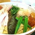 麺屋一燈 - 昆布水と鶏出汁ジュレの煮びたしつけ麺 880円