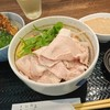 三品 - 料理写真:冷やし豚しゃぶそばプラス小天丼1,400円(税別)
