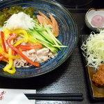 大山 - 黒豚しゃぶサラダうどんセット 1480円