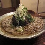 蕎麦 惠土 - 賀茂茄子の冷かけ蕎麦