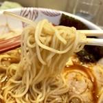 麺処 あす花 - 麺は細麺ストレート