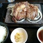 石焼ステーキ 贅  - 「国産リブステーキ250g」+「ご飯セット」