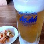 上海 - 生ビール550円 ジョッキ冷えてます。(*´ω`pq゛