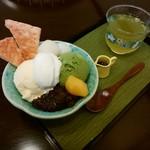 Blanc Yamahatsu - 料理写真:「抹茶パフェ(冷茶付き)」