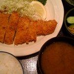 とんかつ都 アゼリア店 - ロースカツ定食(ランチ:840円)