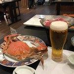 鶴荘 - 料理写真:最初はビールで