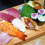 寿司・うなぎ 羽子吾 - 中にぎり寿司 ¥1,500