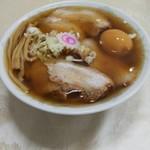 佐野ラーメン しばちゃん - チャーシュー麺(煮玉子トッピング)