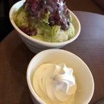 サンマルクカフェ - 料理写真:抹茶金時+ソフトクリーム