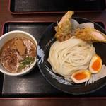 91256154 - 桜島鶏ささみ天とつけ麺(大盛) 880円