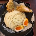 91256159 - 桜島鶏ささみ天とつけ麺(大盛) 880円