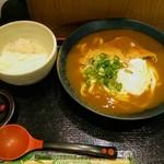 京のカレーうどん味味香 - 冷やしきつねカレーうどんとご飯(小)