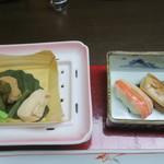 91265932 - 炊き合わせ、凌ぎの寿司