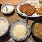 やよい軒 - チキン南蛮とエビフライの定食♪ 960円