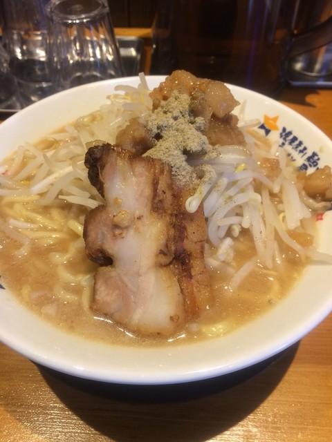濃厚煮干しラーメン 麺屋 弍星 王子公園店 - にぼ次郎大盛り