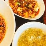 91272895 - 卵スープとミニ麻婆豆腐
