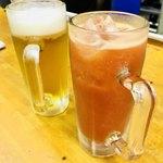 91277292 - 生ビールとトマチュ♡で乾杯〜〜