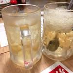 尼崎焼そばセンター - ハイボール&シャリキンレモンハイボール