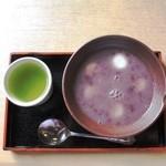 茶処 玉冨久 - 白玉ぜんざい(冷)500円