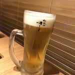 松阪牛 田じま - 生ビール中ジョッキ