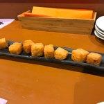 91281551 - ひよこ豆のペースト チーズのフリット