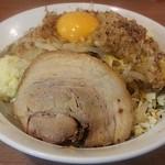 麺屋ガテンZ - 【味噌まぜそば 中200g + チーズ】¥800 + ¥100
